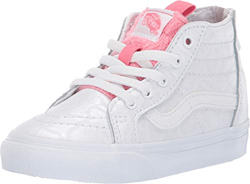 Vans Kids Baby Girl's Sk8-Hi Zip (Toddler) (White Giraffe) True White/Strawberry Pink 10 M US Toddler ()
