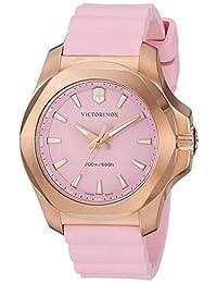 Victorinox Swiss Army I.N.O.X. Reloj V, Pink Dial, Pink Rubber Strap