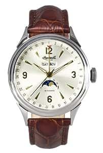 Ingersoll Reloj Automático para Hombre in8400sl con esfera blanca y correa de piel color marrón