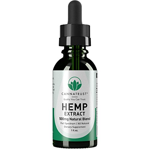CannaTrust Full Spectrum Hemp Extract Oil - All Natural Blend - for Pain, Anxiety and Inflammation - 500mg Ultra Pure - Sleep Better - Reduce Stress - Restore Balance - 1oz by CannaTrust (Image #9)