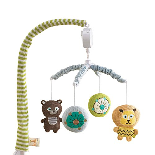 Assorted Bear, Hippo & Lion Characters Musical Mobile by Lolli Living