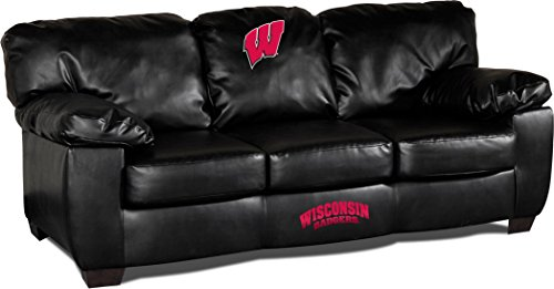 Imperial Officially Licensed NCAA Furniture: Classic Leather Sofa/Couch, Wisconsin Badgers