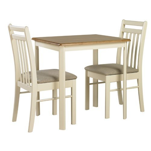 Medium image of ascot solid wood natural   ivory kitchen dining table and 2 chairs  amazon co uk  kitchen  u0026 home