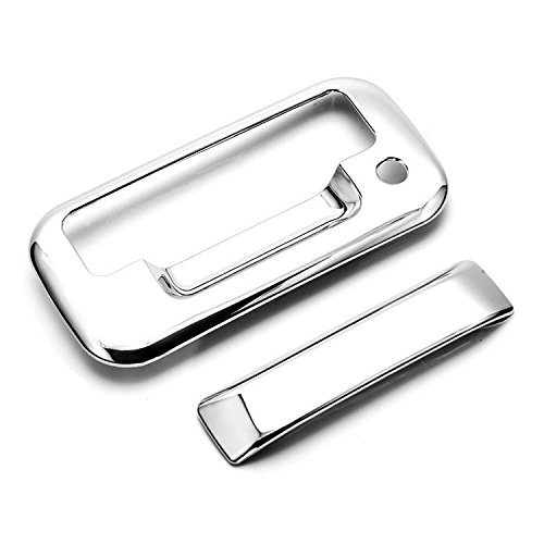 eRushAutoparts Ultra Chrome Tailgate Cover For 04-14 FORD F150 08-15 FORD F250 F350 F450 SUPERDUTY 04-08 FORD MARK LT 07-10 FORD EXPLORER SPORT TRACNo Camera Hole