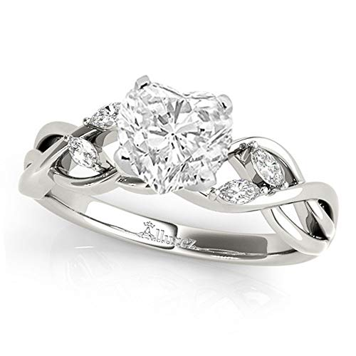 (Twisted Heart Diamonds Engagement Ring Palladium (1.50ct) )