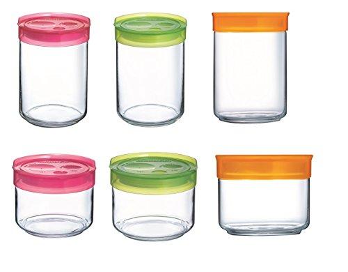 Vorratsdosen Glas luminarc 15863 storing box vorratsdosen set 6 teilig glas weiß