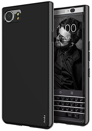BlackBerry KEYone Case, Aeska Ultra [Slim Thin] Flexible TPU Soft Skin Silicone Protective Case Cover for BlackBerry KEYone ()