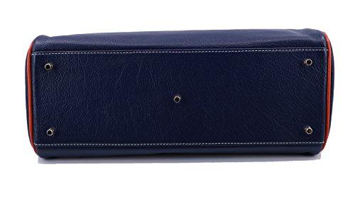 finition S à main Sac Mac de Douglas Bunis buffle cobalt nickel Pyla cuir Mutico SCWnvdW