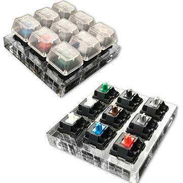 - 9X Switches Keyboard Tester Kit Clear Keycaps Sampler For Cherry MX - Keyboards & Mouse Keycaps & Switches - 1 x Tester