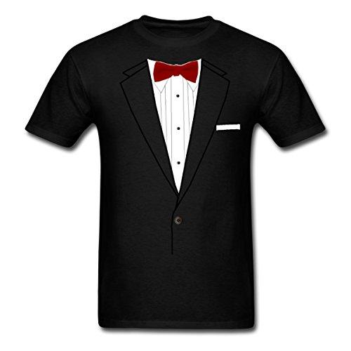ux Bow Tie Costume Men's T-Shirt, S, Black ()
