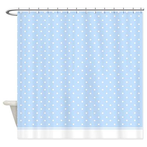 HANHAOKI Baby Blue Polka Dot Pattern Shower Curtain 72