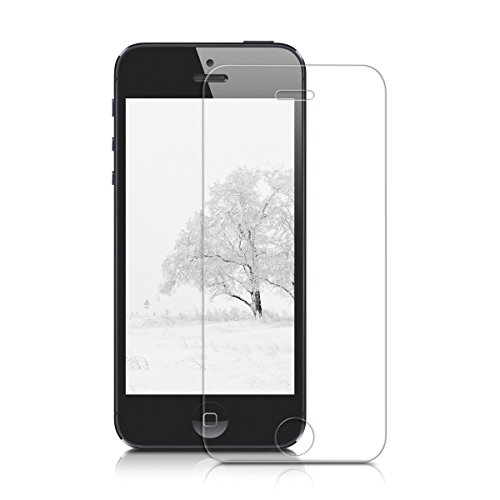 kwmobile 2in1 Set: Crystal Case Hülle + Panzerglas Displayschutzfolie für Apple iPhone SE / 5 / 5S aus TPU Silikon - transparente Schutzhülle Cover klar in Transparent