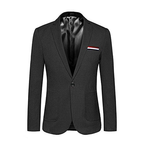 Sndofej größe Mantel männer pflegen einen knopf Farbe, größe Anzug koreanisch,schwarz,m