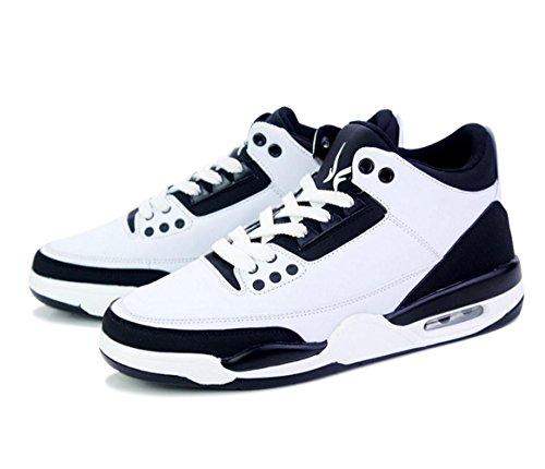 WZG zapatillas de deporte zapatos de cojín deportes de los hombres de los zapatos ocasionales de los estudiantes adolescentes zapatos de la marea de encaje Dongkuan Black