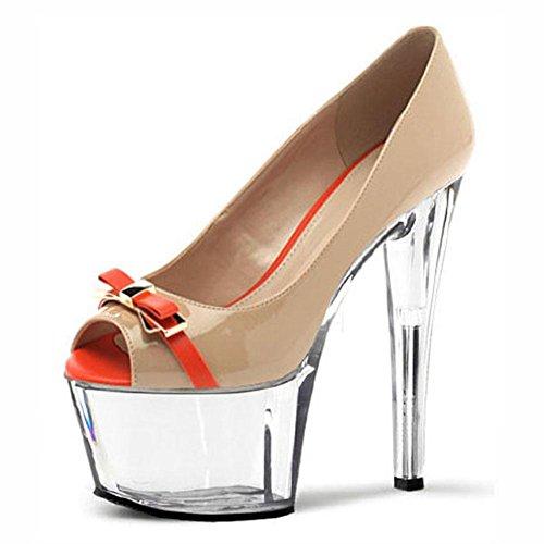 17cm talons hauts Chaussures Hate Orange femme YC à la talons hauts à L Days de Chaussures xv7Iqwf