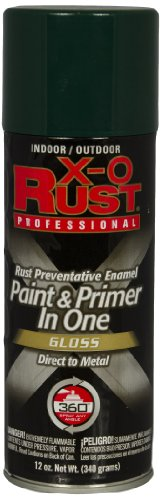 General Paint & Manufacturing XOP-11 X-O Rust Professional Rust Preventative Paint and Primer in One Spray with 360-Degree Spray Tip, Hunter Green, 6-Pack