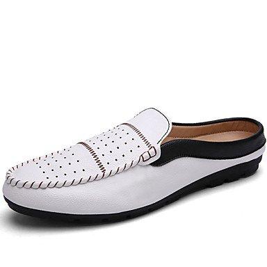 Zapatos de hombre exterior / Mocasines Casual negro / azul / blanco / Borgoña Negro