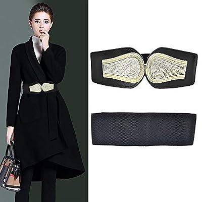 VITORIA'S GIFT Women Waist Belt,Metal Mirror Face Belts Wide Self Tie Wrap Around Waist Thin Waistband for Mother's day