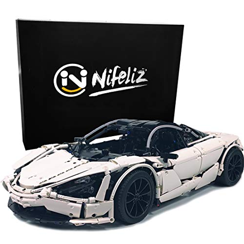 Nifeliz Sports Car 720 MOC Technique Building Blocks and Engineering Toy, Adult Collectible Model Cars Kits to Build, 1:8 Scale Race Car Model (3247 Pieces)