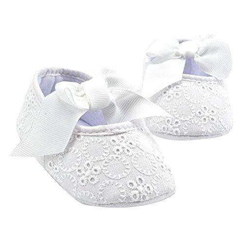 Highdas Soft Sole Zapatos Bebé Algodón Primeros Caminante La Mariposa Nudo Los Zapatos para Niños Primera Sole Blanco
