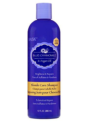- HASK Blue Chamomile & Argan Oil Blonde Care Shampoo 12oz