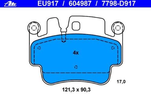 ATE 13.0460-4987.2 Bremsbelagsatz Scheibenbremse