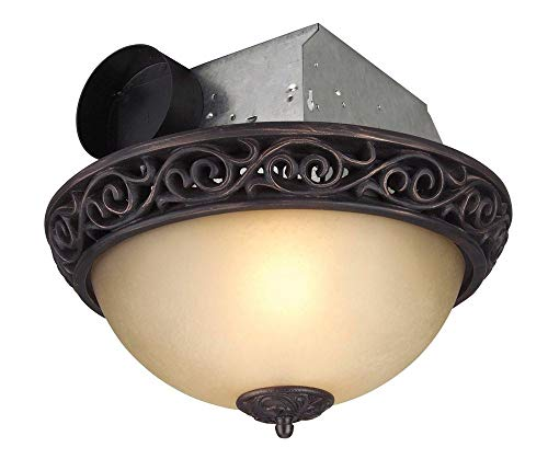 Craftmade Lighting TFV70L-AIORB Decorative Bathroom Exhaust Fan, Iron Scroll Oil Finish ()