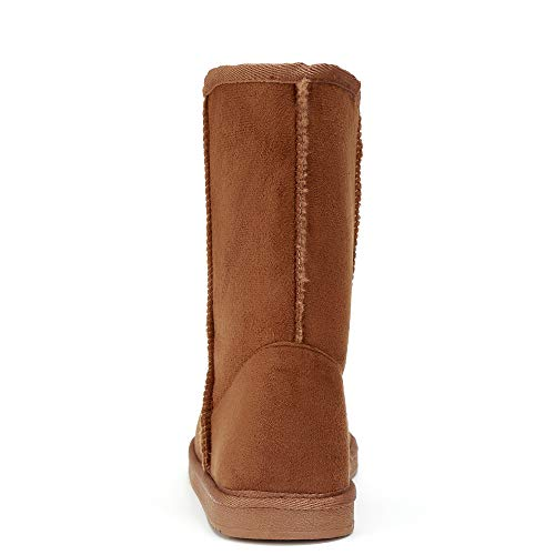Wool Boot Funkymonkey Snow Imitation Suede Women's Brown Classic Lined Winter wSTCqA