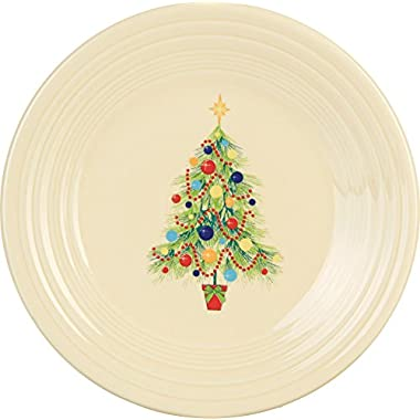 Fiesta 9-Inch Luncheon Plate, Christmas Tree