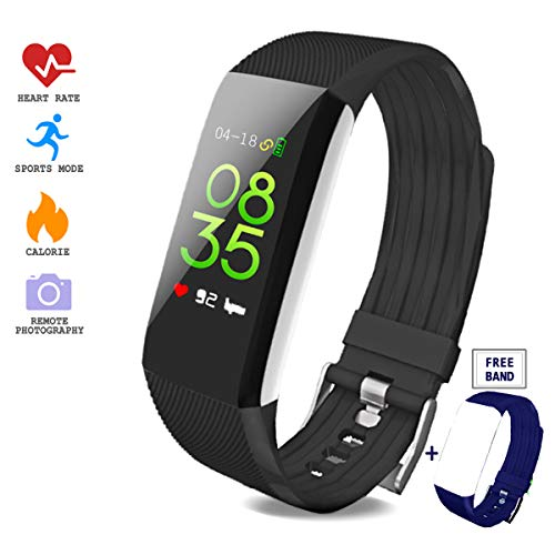 Juya Fitness Tracker with Heart Rate Monitor, Activity Tracker Watch, Waterproof Smart Fitness Band with Step Counter, Calorie Counter, Pedometer Watch for Kids Women and Men for Android & iPhone