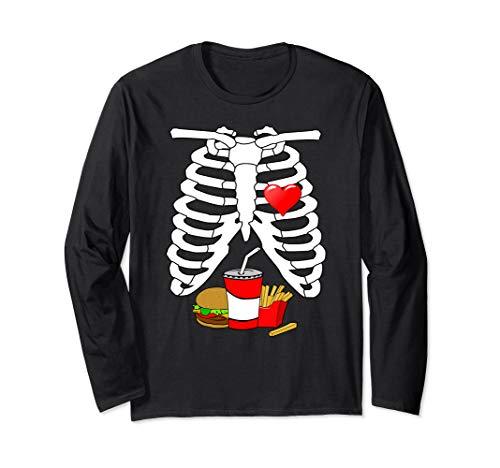 Halloween Skeleton Ribs Food (X-ray Skeleton Ribs Halloween Junk Food Costume Long)