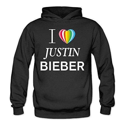XJBD Women's I Love Heart New Design Hooded Sweatshirt Black Size - Christina Aguilera Sunglasses