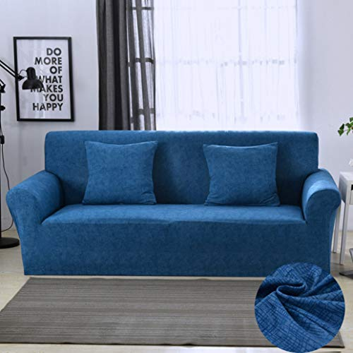 BERTERI Stretch Sofa Cover for Living Room Modern All-Inclusive Dustproof Blue Couch Slipcovers for Armchair Loveseat Sectional Sofa