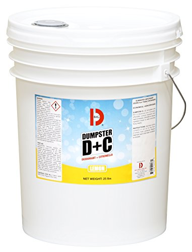 Big D 178 Dumpster D+C Deodorant + Citronella, Lemon Fragrance, 25 lb Container - Repels flies and insects - Ideal for use in garbage dumpsters, trash cans, containers, compactors and trucks