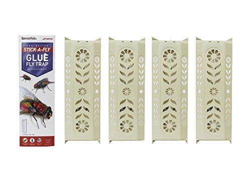 $averPak 4 Pack- 4 JT Eaton Stick-A-Fly Glue Fly Stick Traps