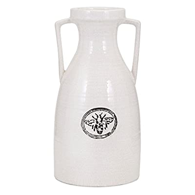 Trisha Yearwood Honey Bee Ceramic Vase - Choose from available sizes Ceramic construction Smooth urn shape - vases, kitchen-dining-room-decor, kitchen-dining-room - 41PU ySdg5L. SS400  -