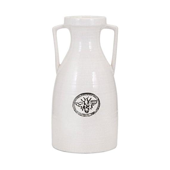Trisha Yearwood Honey Bee Ceramic Vase - Choose from available sizes Ceramic construction Smooth urn shape - vases, kitchen-dining-room-decor, kitchen-dining-room - 41PU ySdg5L. SS570  -