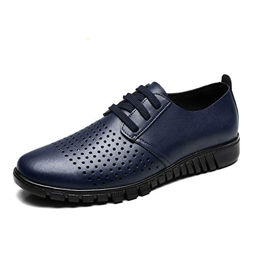 autunno casual Hollow Scarpe Resistente da Blue uomo Hollow lavoro amp;Baby casual Dimensione all'abrasione Sunny Color da Blue e stile stile EU primavera Oxford 43 6wq5xIXvB