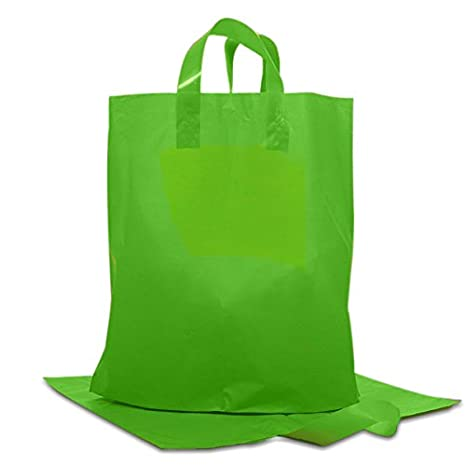 Amazon.com: Color verde mate plástico HDPE bolsas – bolsas ...
