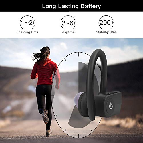 Wireless Earbuds Sport, [Upgraded] Bluetooth 5.0 Headphones IPX5 Waterproof 24H Playtime in-Ear TWS for Apple Airpods Android/iPhone