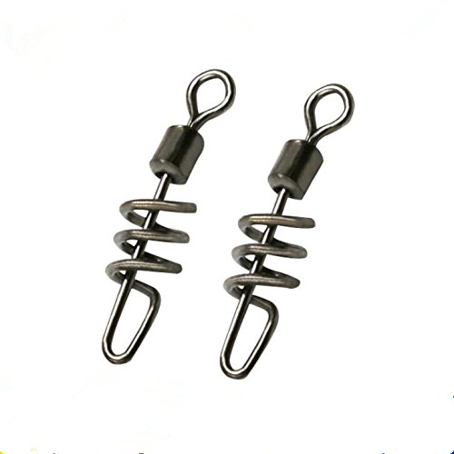 fishcm-saltwater-fishing-swivel-snap-swirl-connector-cork-screw-swivel-stianless-black-42-220lb-pack