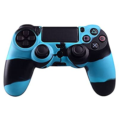 Mod Freakz PS4 Controller Silicone Case Protective Skin Black Blue Camo 2 by Donaldsons