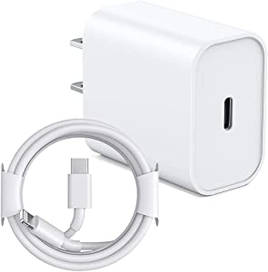 iPhone Fast Charger, 20W PD Fast Charger Type C Power Wall Charger Block with?Apple MFi Certified? 6FT USB C to Lightning Cable Compatible iPhone 12/12 Mini/12 Pro Max/11 Pro Max/Xs/XR/X/8 Plus/iPad