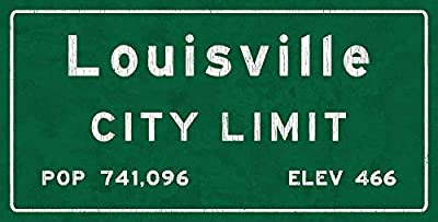 Louisville City Limit Metal Sign Kentucky Population Census Travel Decorative Sign tokohomebody