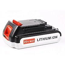 Enegitech 20V 2.0Ah Lithium Ion Replacement Battery for Black & Decker LBXR2020-OPE LB20 LBX20 LBXR20 Cordless Tool Battery