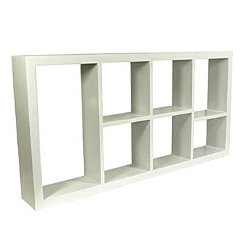 Étagère De Rangement à Fixation Murale 7 Cubes Avec Cloisons Amovibles Pour  Décoration/présentoir Uni
