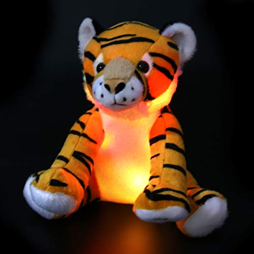 Adorable Soft Plush (Athoinsu Glow Tiger LED Stuffed Animals Night Light Curious Soft Plush Adorable Toy Gift for Kids on Easter Birthday Children, 11'' (Style 1))