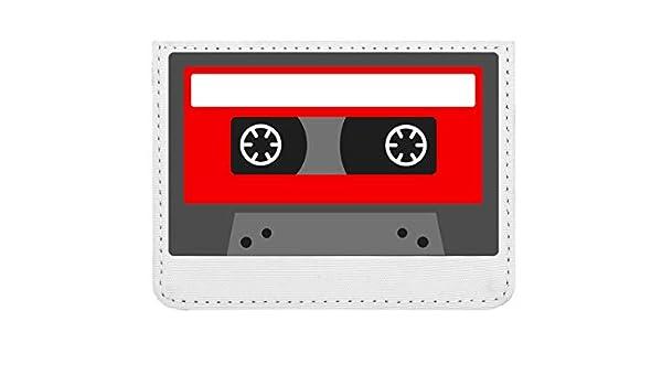 Minimalistic Red Cassette Tape Graphic Estuche para Tarjetas ...