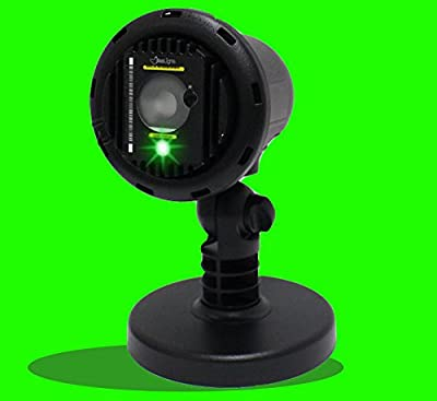 Green Laser Light Projector by BlissLights Commercial Grade Indoor or Outdoor Laser Star Spotlight Includes Wireless Remote, 16 LED Accent Colors, Timer, Stake, and Thousands of FireFly Pinpoints