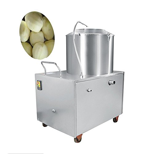 Zorvo Commercial Potato Peeler -Automatic Electric Potato Peeler Sweet Potato Peelingand Cleaning machine 33lb-44lb Capacity 1500W For Restaurant Hotel -Shipping From USA-3-5 Days Delivery